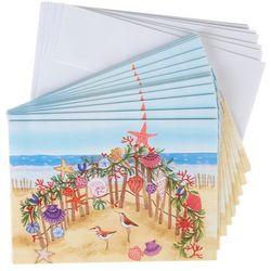 Brighten The Season Birds Beach Greeting Cards