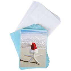 Brighten The Season Santa Starfish Greeting Cards
