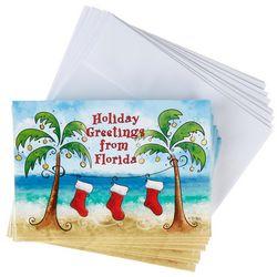 Brighten The Season Florida Greetings Greeting Cards