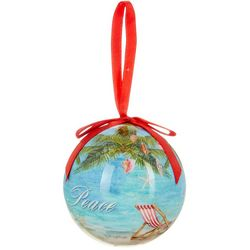 Brighten the Season Flamingo Floral Ball Ornament