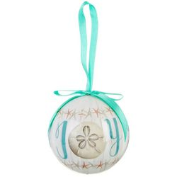 Brighten the Season Joy Sand Dollar Ball Ornament