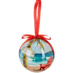 Brighten the Season Merry Christmas Adirondack Ball Ornament