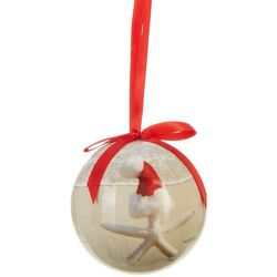Brighten the Season Starfish With Santa Hat Ball