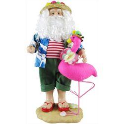 Brighten The Season Palmingo Posh Santa & Flamingo Figurine