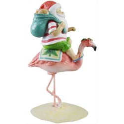 Brighten The Season Palmingo Posh Santa Flamingo Figurine