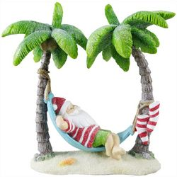 Brighten The Season Palming Posh Santa In Hammock