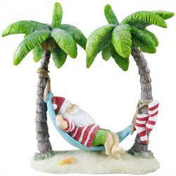 Brighten The Season Palming Posh Santa In Hammock Figurine
