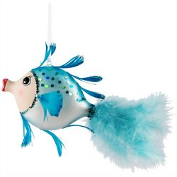 Brighten The Season Sparkly Kissing Fish Ornament