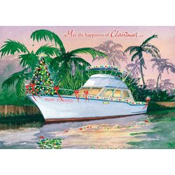 Brighten the Season Glad Tidings Boat Greeting Cards