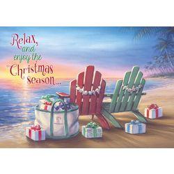 Brighten the Season Chairs on the Beach Greeting