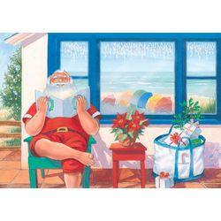 Brighten the Season Santa Tanning Greeting Cards