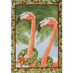 Brighten the Season Holiday Flamingos Greeting Cards