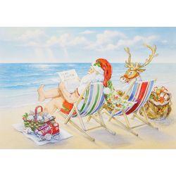 Brighten the Season Santa Cabana Greeting Cards