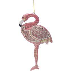 Brighten the Season Mosaic Flamingo Ornament