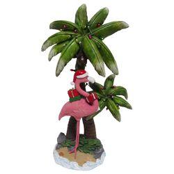 Brighten the Season Palmingo Posh Flamingo Palm Figurine