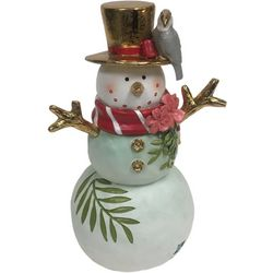 Brighten The Season Palmingo Posh Floral Snowman Figurine