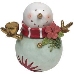 Brighten The Season Palmingo Posh Tropical Snowman Figurine