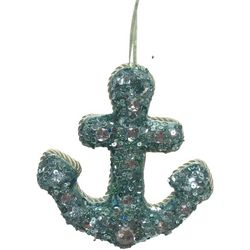 Brighten the Season Beaded Anchor Ornament