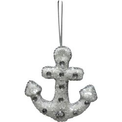 Brighten the Season Sandy Shores Beaded Anchor Ornament