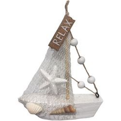 Brighten the Season Sandy Shores Relax Sailboat Figurine