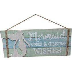 Brighten The Season Fairytale Mermaid Kisses Wall Sign