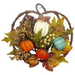 Brighten the Season 15'' Twig Pumpkin Wall Decor
