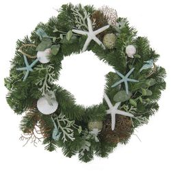 Brighten the Season Fairytale 24'' Starfish & Shell Wreath