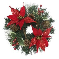 Brighten the Season Florida Bealls 12'' Poinsettia Wreath