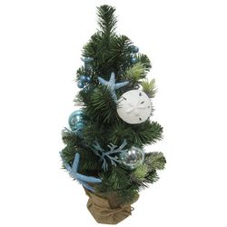 Brighten the Season Sandy Shores 24'' Blue Starfish Tree