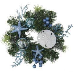 Brighten the Season Sandy Shores 12'' Blue Starfish Wreath