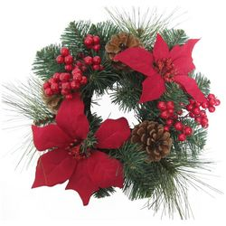 brighten the season 12 poinsetta berry wreath