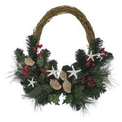 Brighten the Season 22'' Starfish Berry Wreath