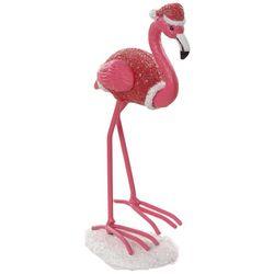Brighten the Season Palmingo Posh Santa Flamingo Figurine