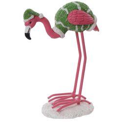 Brighten the Season Palmingo Green Hat Flamingo Figurine