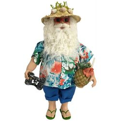 Brighten the Season Palmingo Posh Beach Santa Figurine