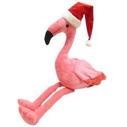 Brighten the Season Palmingo Posh Santa Hat Flamingo Plush