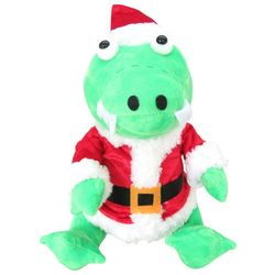 Brighten the Season Palmingo Posh Plush Santa Alligator
