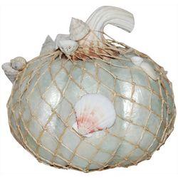 Brighten The Season Shell Net Pumpkin Figurine