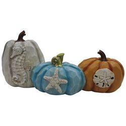 Brighten The Season Coastal Triple Pumpkin Figurine