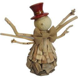 Brighten the Season Driftwood Snowman Figurine