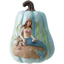 Brighten The Season Mermaid Pumpkin Figurine