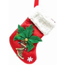 brighten the season palm tree mini stocking