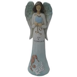 Brighten the Season Blue Coastal Angel Figurine