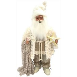 Brighten the Season 18'' White Coastal Santa Figurine