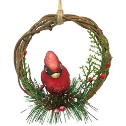 Brighten the Season Cardinal Wreath Ornament