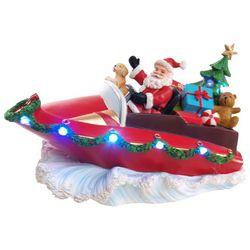 Brighten the Season 11'' Santa Yacht Figurine