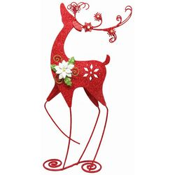 Brighten the Season 28'' Red Glitter Reindeer Decor