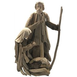 Brighten the Season Driftwood Holy Family Tabletop Decor