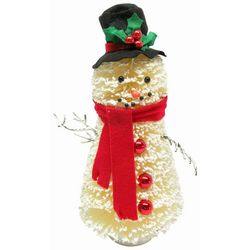 Brighten the Season 13'' Sisal Snowman Figurine