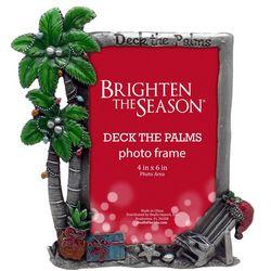 Brighten the Season 4'' x 6'' Deck The Palms Photo Frame